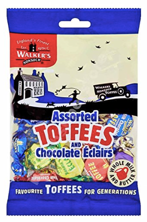 Walker's Nonsuch  Assorted Toffees+Chocolate Eclairs