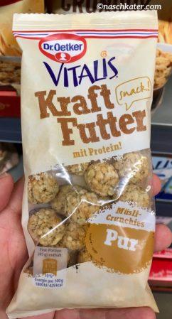 Dr. Oetker Vitalis Kraftfutter mit Protein Snack mit PUR Müsli-Crunchies