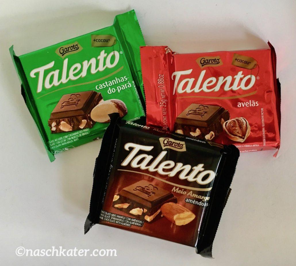 Garoto Talento Schokolade Braslien Ritter Sport verschlossen