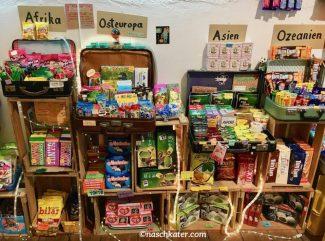 Sugarfari-Koffer mit Süßigkeiten aus Afrika-Osteuropa-Asien und Ozeanien