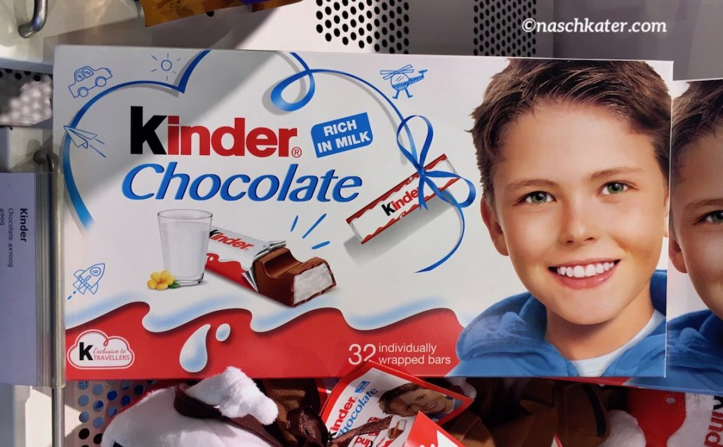 Kinder Chocolate 32 Riegel Duty Free Size