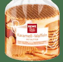 REWE Beste Wahl karamell-Waffeln mit Butter 400 Gramm