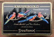 Stollwerck Knuspergold Feinste Mandel- und Nuss-Pralinen Schmuckdose Vögel