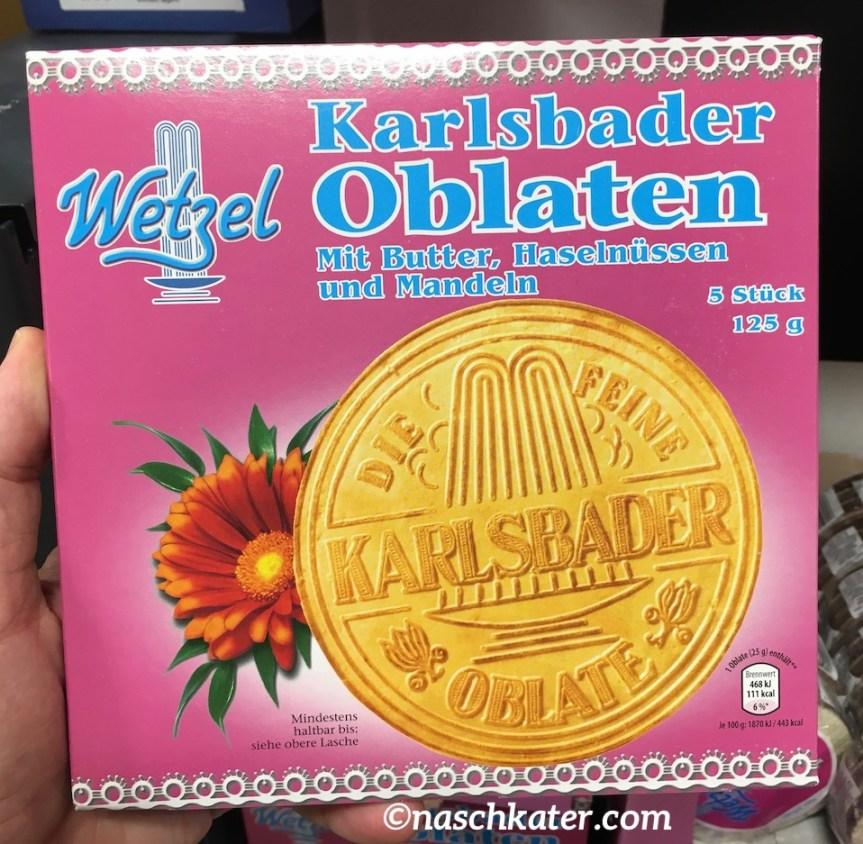 Karlsbader Oblaten: groß, rund, staubtrocken