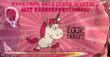Eddie Einhorn Original Belgische Waffeln mit Erdbeergeschmack