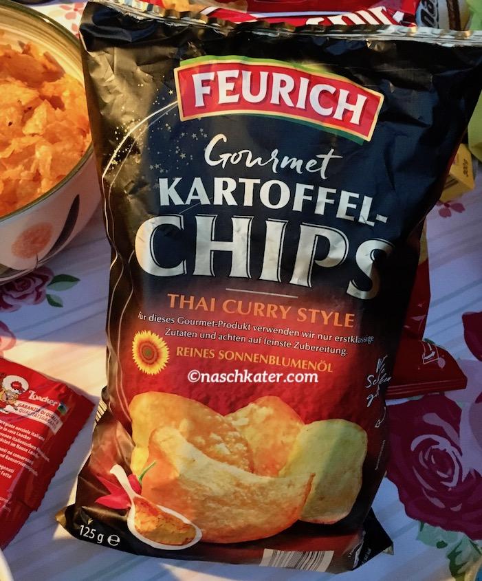 ALDI Feurich Gourmet Kartoffel-Chips Thai Curry Style Sonnenblumenöl