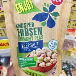 Kühne Enjoy Knuspererbsen Crunchy Peas Meersalz Snack