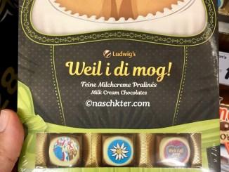 Oktoberfest Ludwig's Weil i di mog Feine Milchcreme Pralines Dirndl