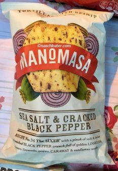 Man-o-masa Sea Salt + Cracked Black Pepper Tortillas