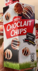 Nestle Choclait Chips Knusperbälle 2018-Edition