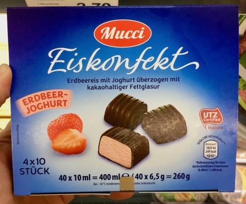 Aldi Mucci Eiskonfekt Erdbeer-Joghurt 40 x 10ml