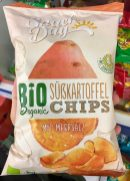 Lidl SnackDay Bio Organic Süßkartoffel Chips mit Meersalz