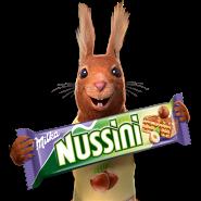 Milka Nussini Eichhörnchen Werbung