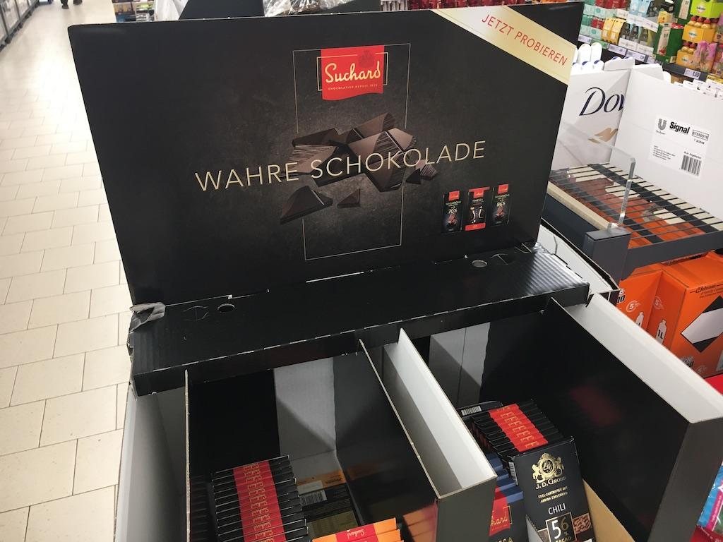 Mondelez Suchard Wahre Schokolade Display von oben