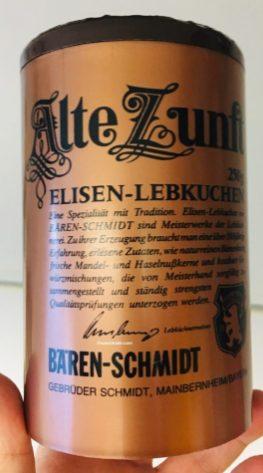 Alte Zunft Elisen-Lebkuchen Bären-Schmidt Mainberneim 250g Schmuckdose