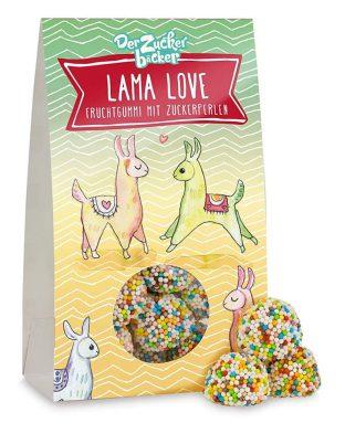 Der Zuckerbäcker Lama Love Fruchtgummi mit Zuckerperlen