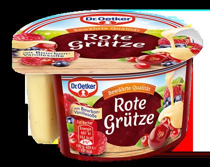 Dr Oetker Rote Gruetze mit Vanillesauce