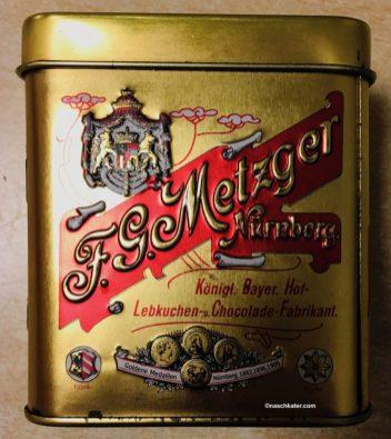 F G Metzger Nürnberg Königl-Bayer-Hoflieferant für Lebkuchen und Chocolade Schmuckdose