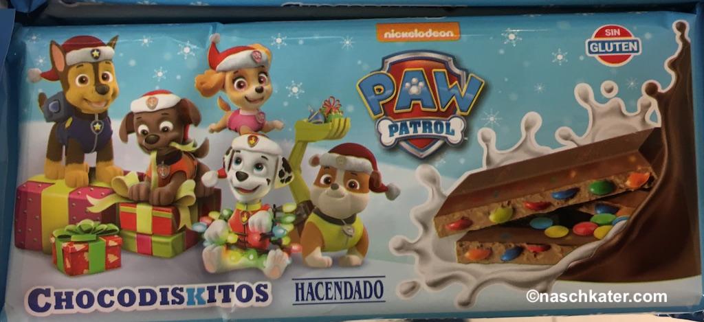 Hacendado Chocodiskitos nickelodeon Paw Patrol Schokolade