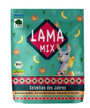 Lihn Lama Mix Selektion des Jahres Bananenscheiben paranusskernbruch Kakaonibs Physalis 200g-bio-vegan