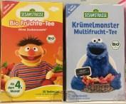 Sesamstraße Biofrüchtetee und Krümelmonter Multifrcht-Tee