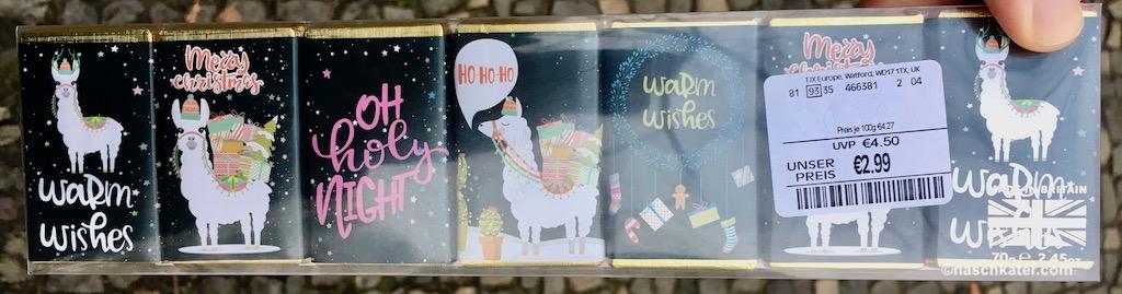 TK Max Lama Mini-Schokolade Christmas