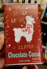 Kakaopulver in der schönen Lama-Dose - gefunden bei TK Max.