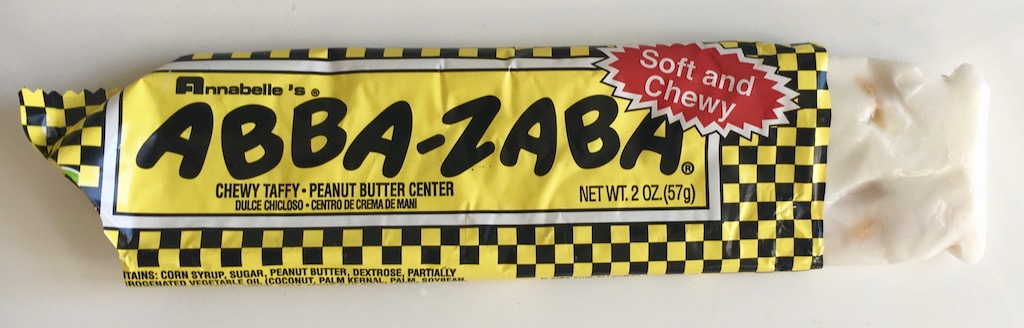 Annabelles Abba-Zabba Soft and Chewy Chewy Taffy Peanut Butter Center 57g