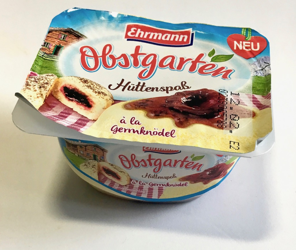 Ehrmann Obstgarten Hüttenspaß á la Germknödel
