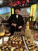 Fontane in echt und als Schokoladen-Kunstfigur auf der Grünen Woche ©naschkater-com