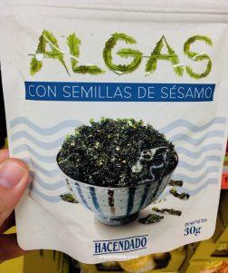 Hacendado Algas con Semillas de Sesamo Snack 30G