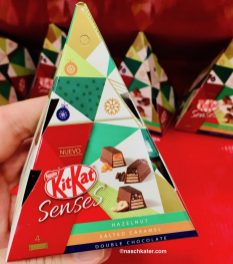Nestlé KitKat Senses Schmuckpyramide Haselnuss Salted Caramel Double Chcocalte