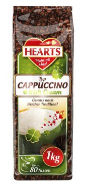 Hearts Typ Cappuccino Irish Cream 1 KG 80 Tassen