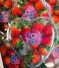 For You Erdbeeren Herzschale Valentinstag