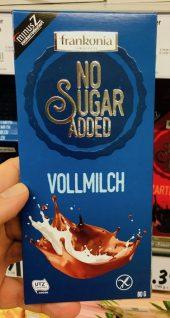 Frankonia No Sugar Added Vollmilch Schokolade