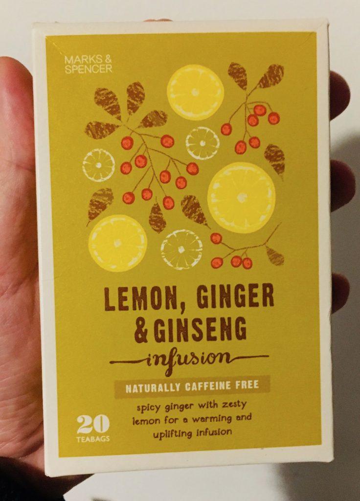 Marks&Spencer Tee Lemon Ginger Ginseng infusion