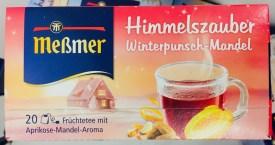 """Bei der Aromatisierung und der Benamung ihrer Tees sind die Kollegen von Meßmer wirklich äußerst kreativ und vollkommen unerschrocken: """"Himmelszauber"""" ist so irre kitschig und verheißungsvoll... hoffentlich ist da kein Konsument enttäuscht, wenn er seinen Winterpunsch-Tee zuhause aufbrüht..."""