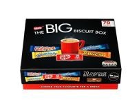 Nestlé The Big Biscuit Box mit Drifter, Breakaway, Kitkat, ToffeeCrisp und BlueRibond Schokoriegeln.
