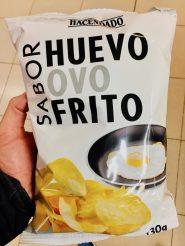 Hacendado Huevo ovo Frito Chips mit Ei