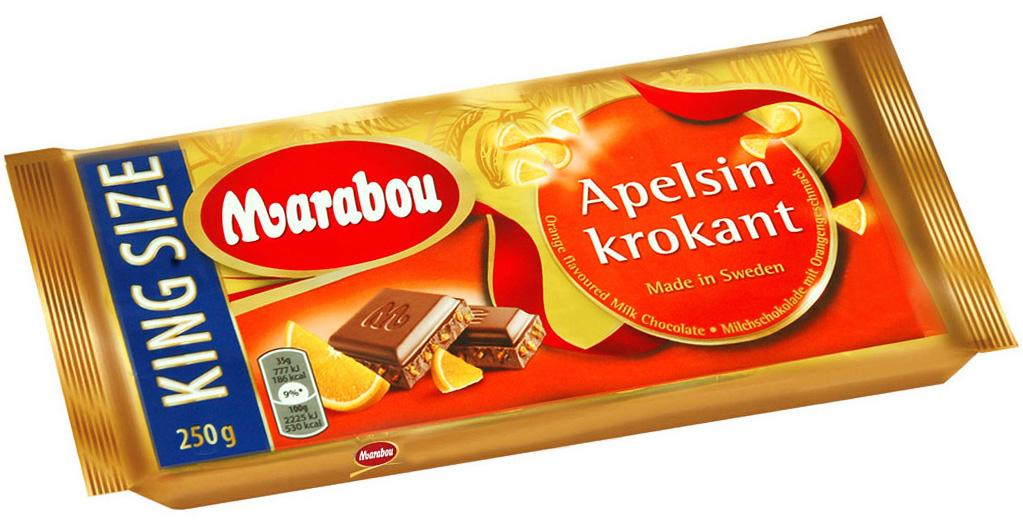 Marabou King Size Apelsin krokant Schwedische Schokolade