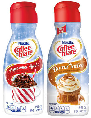 Nestlé Coffee-Mate Holiday-Season Peppermint Mocha und Butter Toffee
