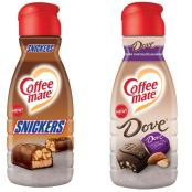 Nestlé Coffeemate Snickers und Dove