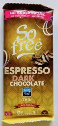 Plamil So free Espresso Dark Chocoalte Thin Tafel