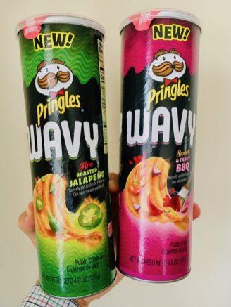 Neuentdeckung einer lieben Freundin aus Florida: Pringles Wavy Roasted Jalapeno und Seet+Tangy BBQ