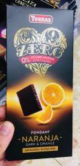 """Dunkle Schokolade ohne Zucker mit Organengeschmack: """"Torras Zero Fondant Naranja Dark"""""""