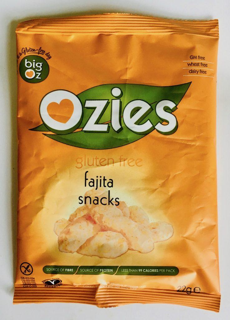 big oz Ozies gluten free fajita snacks Chips