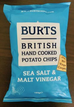 Burts British Hand Cooked Potato Chips Sea Salt+Malt Vinegar