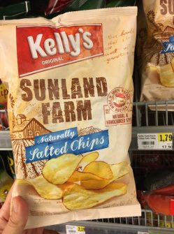Kelly's Sunland Farm Salted Chips