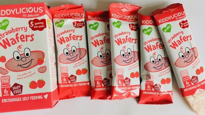 Kiddylicious strawbery Wafers 5 yummy twin packs Erdbeerwaffeln