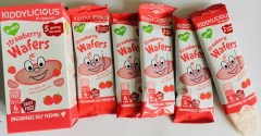Kiddylicious strawbery Wafers 5 yummy twin packs Erdbeerwaffeln